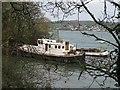 SW8137 : Boat moored in Restronguet Creek by Lynne Glazzard