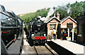 SE8190 : Trains meet at Levisham station. by Roger Cornfoot