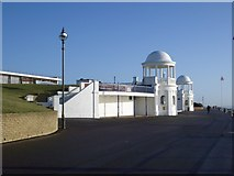 TQ7407 : The Twin Cupolas at the Colonnade, Bexhill by Nigel Stickells