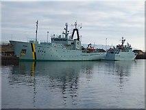 NS2975 : SFPA Ships at James Watt Dock by Thomas Nugent