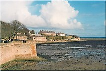 NU0052 : Fisher's Fort at Low Tide from Coxon's Tower by Matthew Hatton