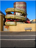 TQ2804 : Pipes, King Alfred Leisure Centre by Simon Carey