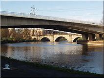 SE4824 : The Modern Bridge at Ferrybridge, framing John Carr's Bridge by Robert  Neilson