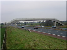 SD5236 : Footbridge over the M6 by Roger W Haworth