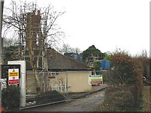 TR2647 : The rear of the Bell pub, destroyed by fire by Nick Smith