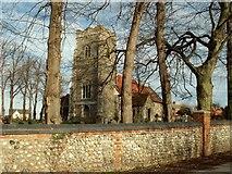 TM1551 : St. Peter's church, Henley, Suffolk by Robert Edwards