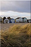 SZ1891 : Sand and beach huts on Mudeford Spit by Jim Champion