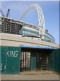 TQ1985 : The Old and the New - Wembley Stadium by Judith Green