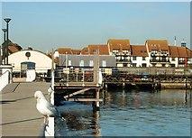 SU4208 : Hythe Foreshore Facing Hythe Marina by Gillian Thomas