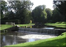 SE2768 : Weir in Studley Royal Gardens by Tom Pennington