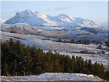 NG8784 : Beinn Airigh Charr from the viewpoint by Roger McLachlan