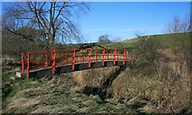 NZ4323 : Footbridge over Thorpe Beck by Mick Garratt