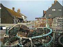 SZ1891 : Mudeford:  Fishermen's Cottages by Gillian Thomas