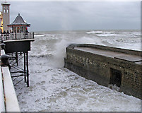 TQ3103 : Rough Sea at Brighton by Christine Matthews