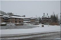 SO0660 : Llandrindod County Hall by anonymous