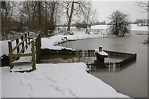 SO8843 : Weir at the southern end of Croome River by Philip Halling