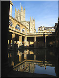 ST7564 : Bath Abbey and Roman Baths: Bath by Pam Brophy