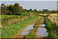 SP2704 : Alvescot trackway near old railway line. by Martin Loader