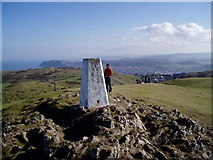 SH7683 : Trig Point on the summit of Great Orme. by Eirian Evans