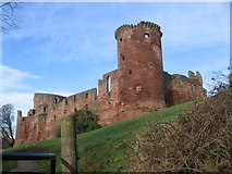NS6859 : Bothwell Castle from the Clyde Walkway by Chris Wimbush