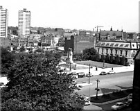 SD8913 : The Cenotaph and Memorial Gardens, Rochdale, Lancashire by Dr Neil Clifton