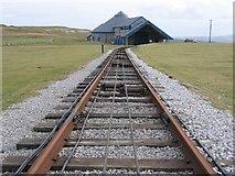 SH7783 : Tramway and Half Way Station by John S Turner