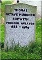 SU3832 : All Saints, Little Somborne, Hants - Gravestone by John Salmon