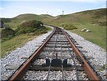 SH7783 : Tramway above Half Way Station by John S Turner