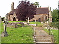 SJ4113 : Ford Church and Yard in Shropshire by BB