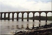 NT9953 : Royal Border Bridge over Tweed at Berwick by Tom Pennington