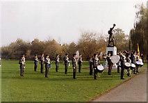 TQ1672 : Radnor Gardens, Twickenham, Remembrance Sunday 1983 by Stephen Williams