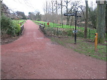 NS3421 : River Ayr Way near the Horticultural Centre by Chris Wimbush