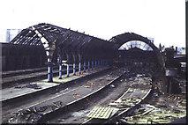 SE1632 : Bradford Exchange Station 1973 (demolition) by Alan Longbottom
