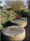SX9291 : Millstones near Trews Weir by Derek Harper