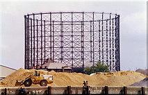 TQ3979 : East Greenwich gasometer, Blackwall Lane by Stephen Williams