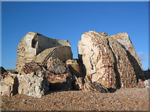 TR1332 : Remains of Martello Tower 19 by Steve Popple