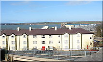 SH4862 : The back of Gwesty'r Celt/Celtic Royal Hotel from the northern footbridge by Eric Jones