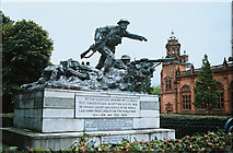 NS5766 : War memorial to all ranks of Cameronians, Kelvingrove Park by Paul Makepeace