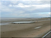 ST3049 : Swimming pool on Burnham on Sea beach by Brian Robert Marshall