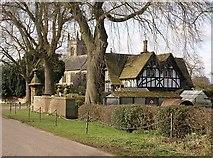 SK1543 : Lodge and church in Snelston by Nikki Mahadevan