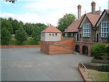SJ3384 : The old school yard by Peter Bruffell