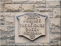 NS3374 : Queen Victoria jubilee date stone by Thomas Nugent