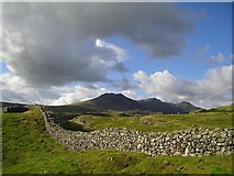 NY2101 : Hardknott Roman Fort, looking toward Scafell Pike by Richard C