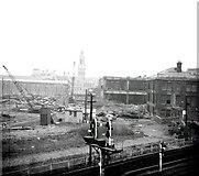SE1632 : Bradford Bridge Street Goods Yard 1972 by Alan Longbottom