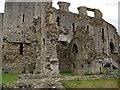 SE1287 : Middleham Castle, East Wall by Frank Glover