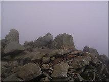 NY2406 : Summit, Bowfell by Michael Graham