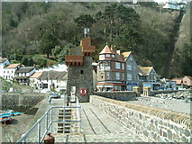 SS7249 : Harbour Wall .Lynmouth by Jill Everington