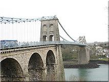 SH5571 : Pont Menai and Porthaethwy from the Gwynedd side by Eric Jones