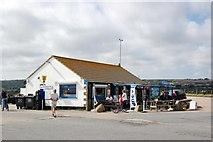 SW5031 : Jordan's Cafe, Long Rock, near Penzance, Cornwall. by Mari Buckley