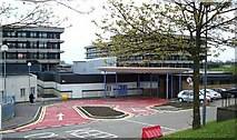 NS7465 : Monklands Hospital Accident and Emergency entrance by Elliott Simpson
